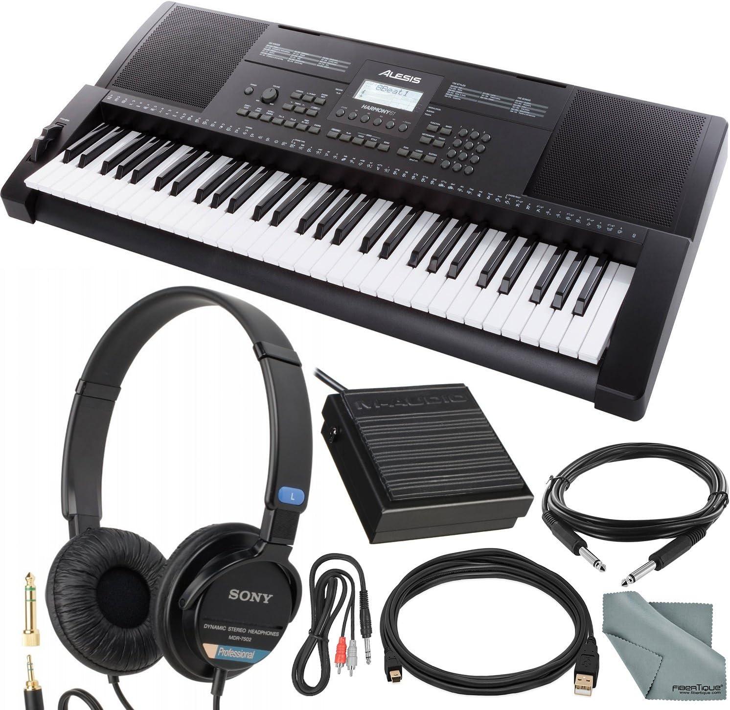 Alesis Harmony 61/61 teclado portátil con altavoces ...
