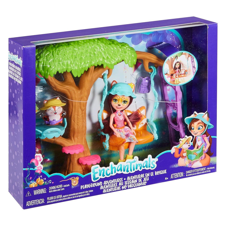 Mode-, Spielpuppen & Zubehör Enchantimals Spielplatz Adventures Felicity Fox Puppe Und Flick