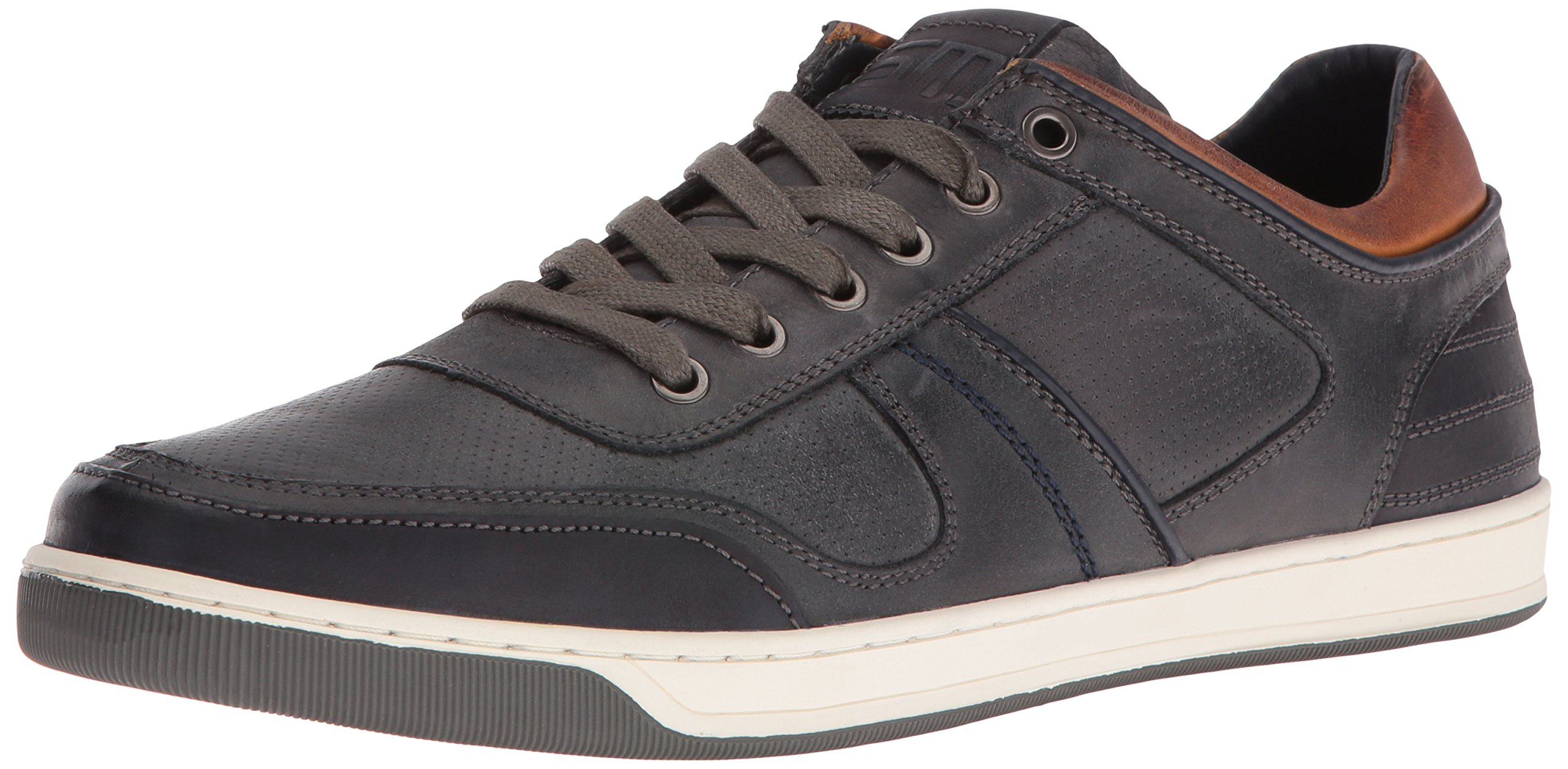 Steve Madden Men's Cantor Fashion Sneaker, Grey Leather, 7.5 M US