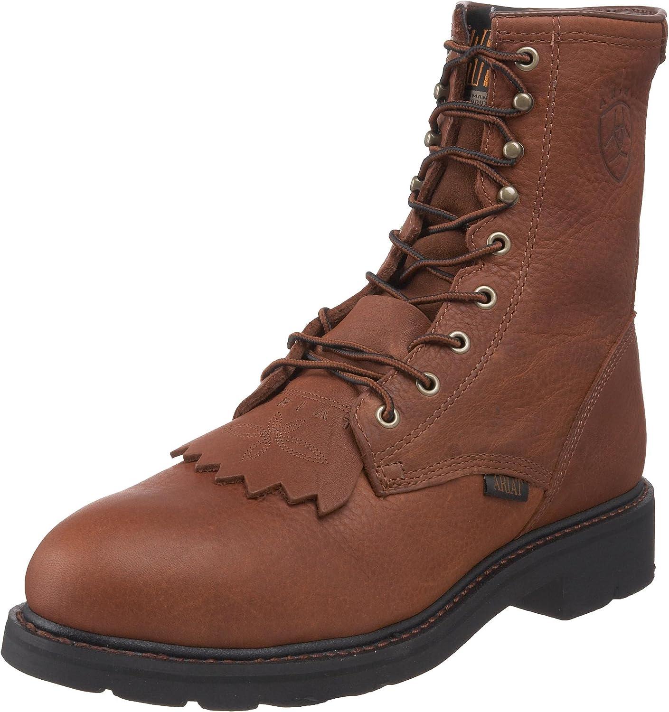 "B00024R1KG Ariat Men's Cascade 8"" Steel Toe Work Boot 81SZg-kTeoL"