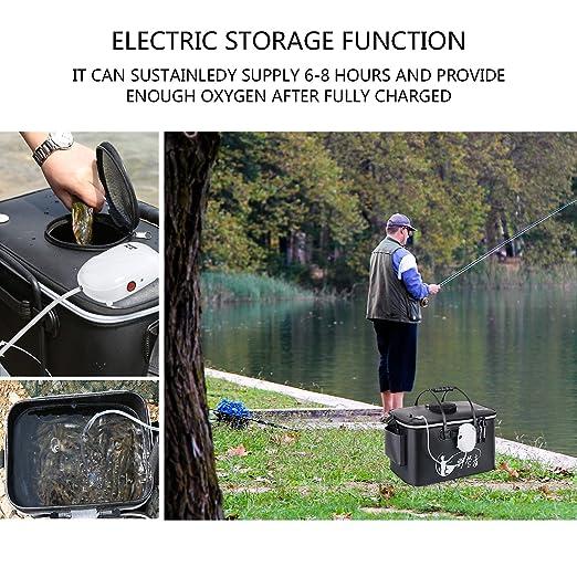 f486b3aaa13 Fish Tank Air Pump Aquarium Air Pump Filter Ultra Silent Rechargeable  Battery Fishing Tank Oxygen Air Bubbles Pump for Small and Medium Fish Tank   ...