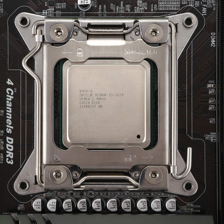 Nrpfell X79 Turbo Motherboard LGA2011 ATX Combos E5 2620 CPU 2Pcs X 8GB = 16GB DDR3 1600Mhz PC3 12800R PCI-E NVME M.2 SSD