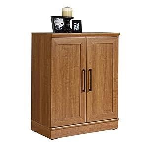 "Sauder 411967 Homeplus Base Cabinet, L: 29.61"" x W: 17.01"" x H: 37.40"", Sienna Oak finish"
