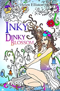 inky dinky blossom travel sized adult colouring coloring book inky colouring books
