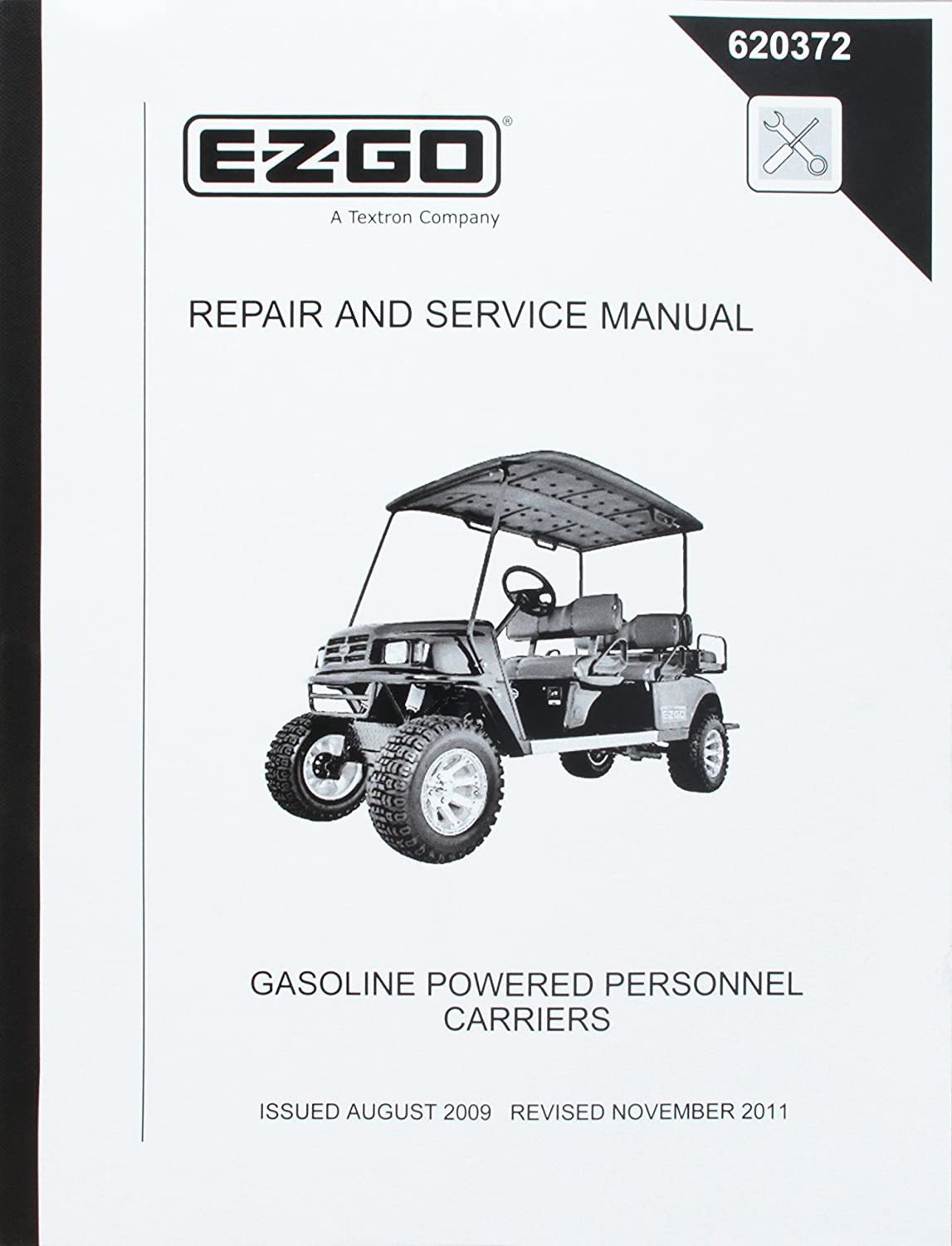Amazon.com : EZGO 620372 2008 Repair and Service Manual for Gas ST Shuttle  Utility Vehicle : Outdoor Decorative Fences : Garden & Outdoor