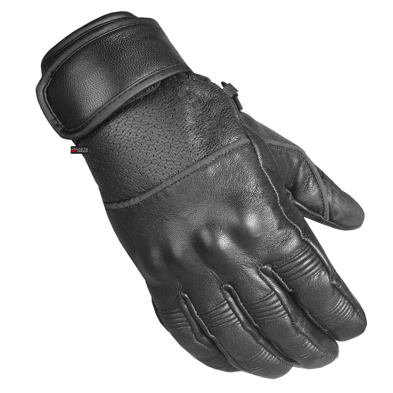 Men's Motorcycle Ventilated Leather Armor Gel Padded Reflective Biker Gloves M