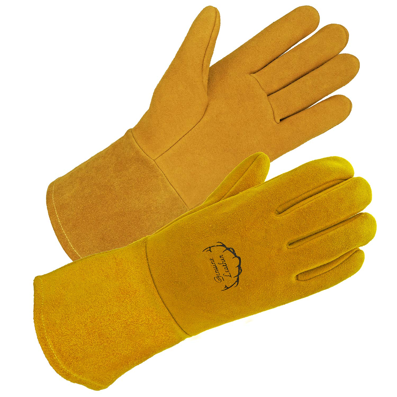 SD0039W/L - SKYDEER Premium Genuine Deerskin Leather Hi-Performance Welding Gloves