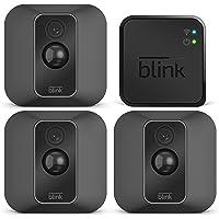Nouvelle Blink XT2 | Caméra de sécurité connectée, Intérieur/extérieur, avec stockage dans le Cloud, système audio bidirectionnel, 2 ans d'autonomie de la batterie | Kit 3 caméras