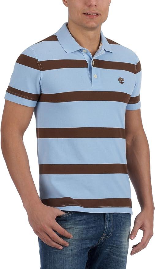 Timberland SS Bold Stripe Pique Pol 15447-Camisa Hombre: Amazon.es: Ropa y accesorios