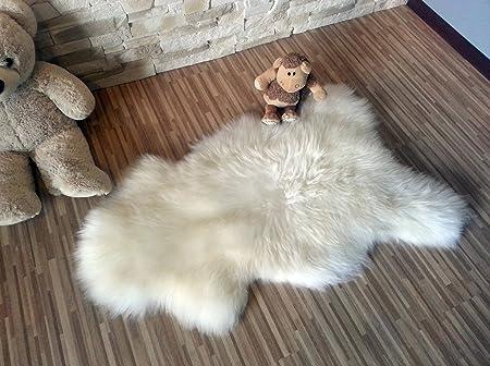 Neuf Tapis en peau de mouton islandais Petit 100-110 cm