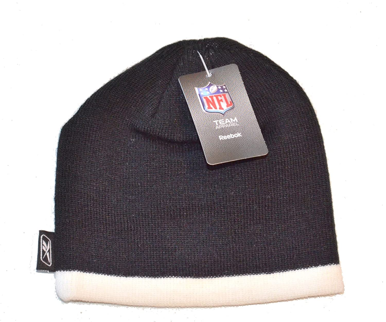 f987d1943f7ac Amazon.com   Oakland Raiders Toddler Striped Beanie Hat - NFL Baby Knit  Gift Cap   Sports   Outdoors