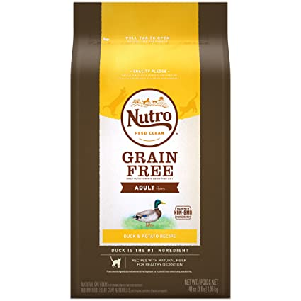 Nutro Grain-Free Duck & Potato Recipe Adult Dry Cat Food 3 Pounds