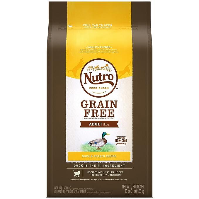 Amazon.com : Nutro Grain-Free Duck & Potato Recipe Adult Dry Cat Food 3 Pounds : Pet Supplies