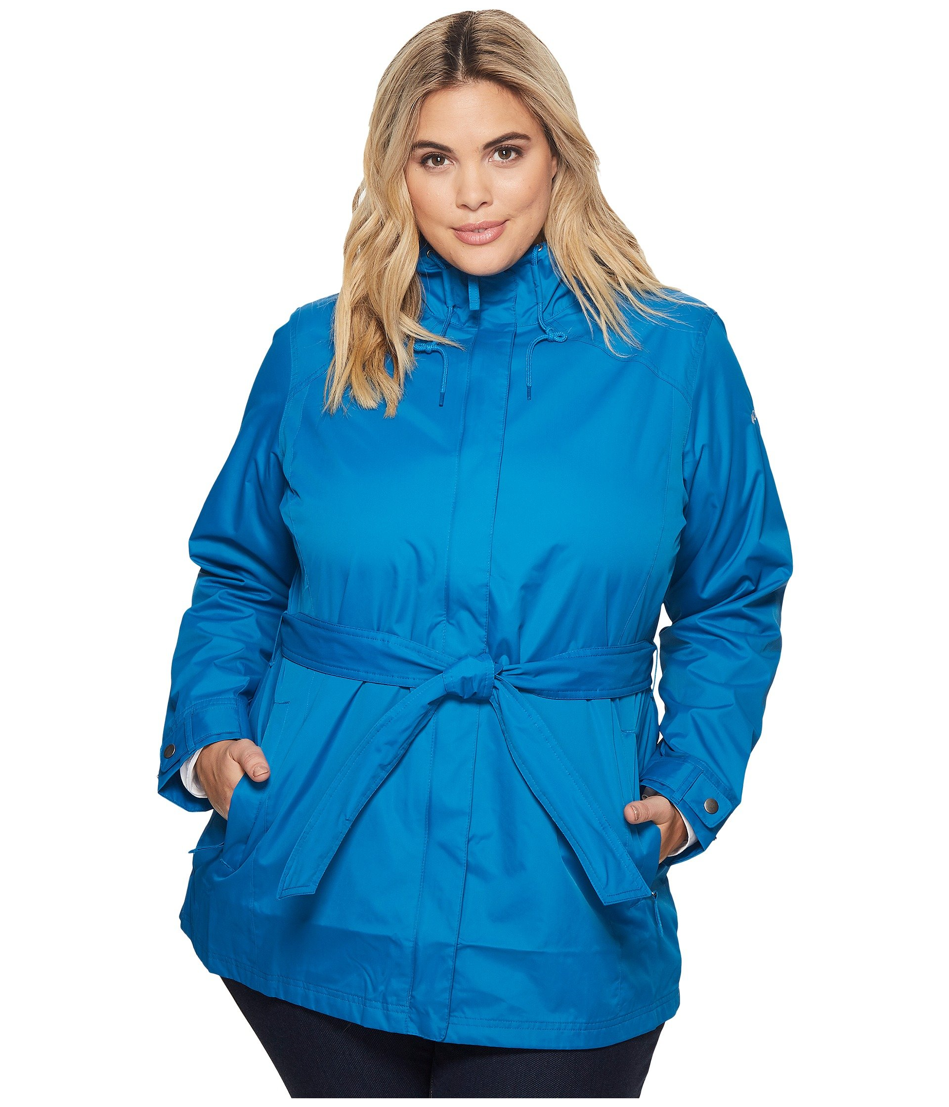 Columbia Women's Plus Size Pardon My Trench Rain Jacket, Jewel, 3X by Columbia