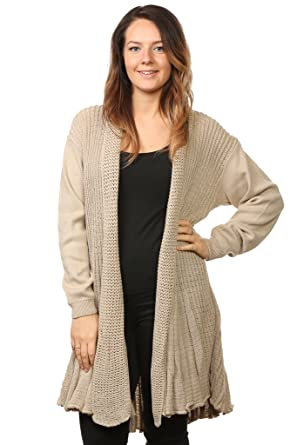 women\u0027s ladies knitted waterfall boyfriend cardigans sweaters full sleeves  long top plus sizes (16/