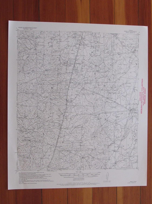 Amazon.com: Webb Texas 1956 Original Vintage USGS Topo Map: Entertainment Collectibles