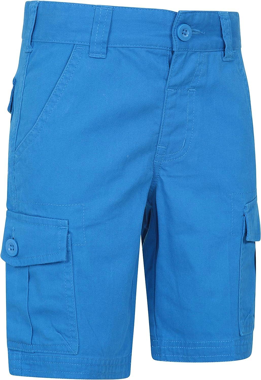 Cortocircuitos del Verano de los ni/ño 100/% Pantalones del algod/ón Waistband Ajustable Mountain Warehouse Cargo El cargoembroma los Cortocircuitos
