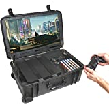 """Case Club Waterproof PlayStation 4 & PS4 Slim/Pro Portable Gaming Station with Built-in 24"""" 1080p Monitor, Storage for Contro"""