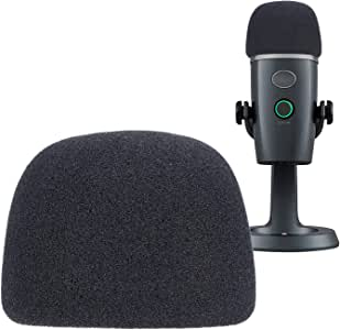 YOUSHARES Yeti Nano Microphone Foam Windscreen - Mic Wind Cover Pop Filter Foam Cover, Professional Customized for Blue Yeti Nano