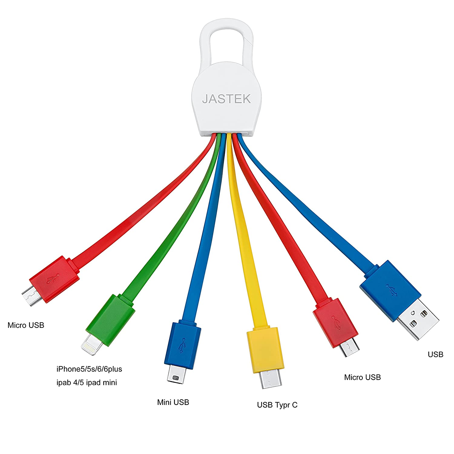 Jastek Multi Charging Cables With 8pin Connector Micro Usb