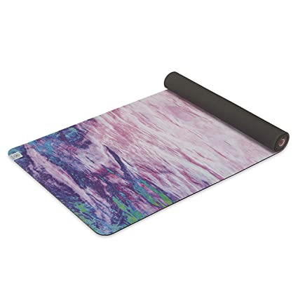 Gaiam Soft-Grip Yoga Mat - Microfiber Towel Top with Rubber Backing Dual-Sided Yoga & Exercise Mat for Hot Yoga, Sunset