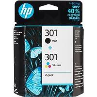 HP 301 N9J72AE - Cartuchos de Tinta Negro y Tricolor, Compatible con Impresoras de Inyección de Tinta HP Deskjet 1050…
