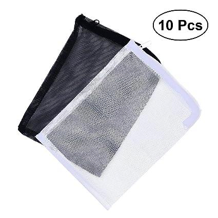 POPETPOP 10 Piezas Bolsas de Filtro de Acuario de Reutilizable, 15 * 20cm Nylon Cordón Filtro de Malla Bolsa, Bolsa de Red de Filtro de Tanque de Pescado ...