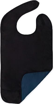 opci/ón de 3 Colores Eurobuy Baberos Impermeables para Adultos PVC Mezcla de poli/éster y algod/ón para Comer Reutilizable Lavable Protector de Ropa con colector de Migas