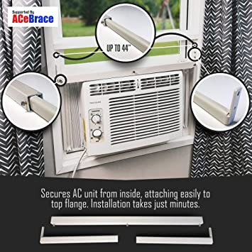 Amazon Com Acebrace Air Conditioner Support For Standard Window Air Conditioners Universal Ac Window Bracket Air Conditioner Support Window Guard And Air Conditioner Support Made In The Usa Home Improvement