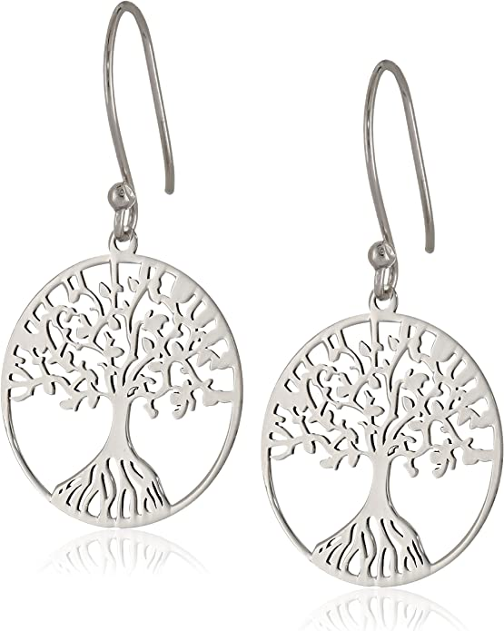silver tree charms family tree mother/'s day Small tree of life charm earrings in sterling silver sterling silver tree tree earrings