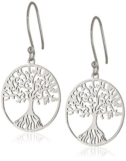 Amazon Sterling Silver Tree Of Life Earrings Clothing