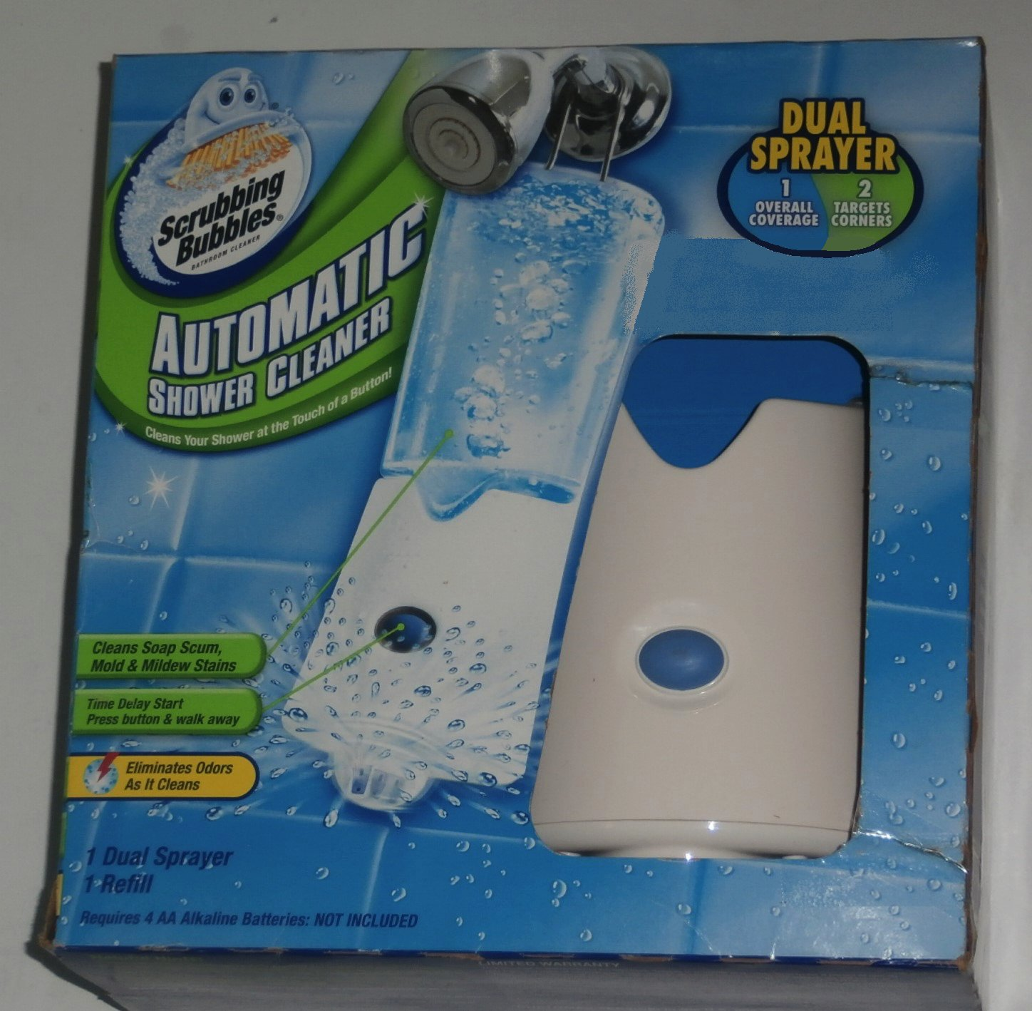 Scrubbing Bubbles Dual Sprayer Automatic Shower Cleaner with 1 Refill by Scrubbing Bubbles (Image #2)