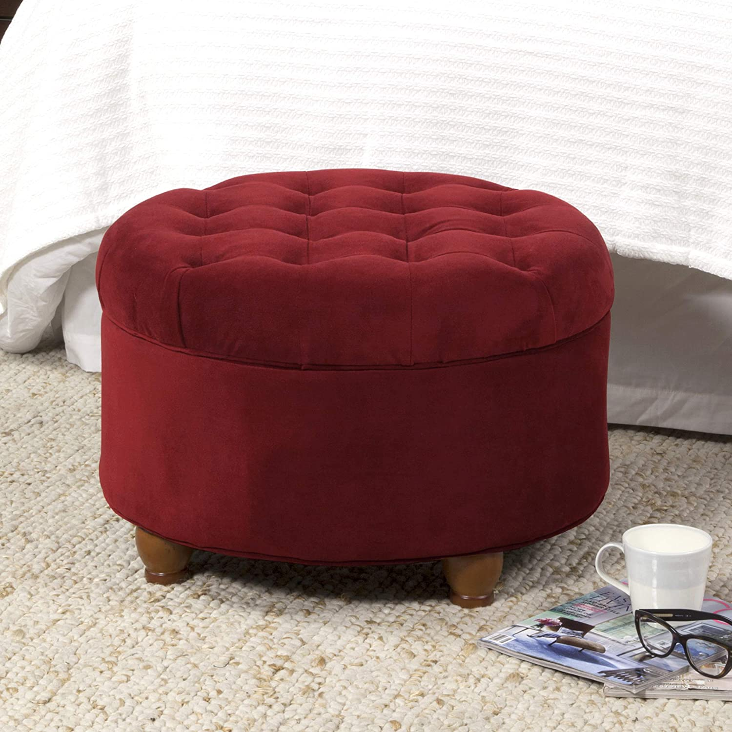 Tremendous Ottomans Berry Furniture Kinfine N8264 B119 Round Button Pdpeps Interior Chair Design Pdpepsorg