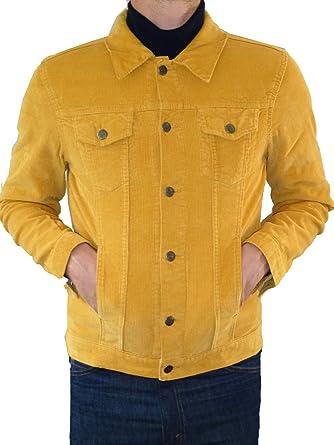 9e38a71f906f VESTE MOUTARDE JAUNE VELOURS CÔTELÉ Manteau court Mode Indie Jeans velours  côtelé de 60 années 70