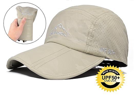 471950eebcf299 ELLEWIN Summer Baseball Cap with Long Large Bill Quick Dry Mesh Back UPF50  Cooling Portable Sun