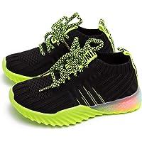 Knemksplanet Toddler Boys Girls Light Up Sneakers Shoes Lightweight Soft Mesh Knit LED Light Shoes Little Kids Baby…