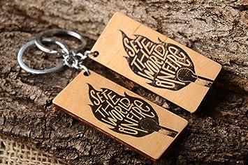 Llaveros originales hechos a mano articulos de madera accesorios para llaves: Amazon.es: Hogar