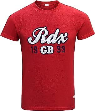RDX Gimnasio Camisetas Algodón Boxeo MMA T Shirt Atletismo Cuello Redondo Entrenamiento: Amazon.es: Deportes y aire libre
