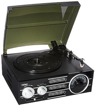 Jensen Turntable With Built In Speaker Black (JTA 300)