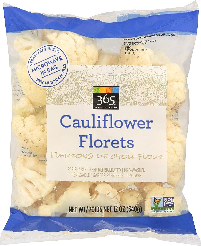 365 Everyday Value, Cauliflower Florets, 12 oz
