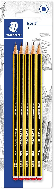 Staedtler Noris - Pack lapiz Noris HB (5 unidades) + Tijeras para niños Noris club: Amazon.es: Oficina y papelería