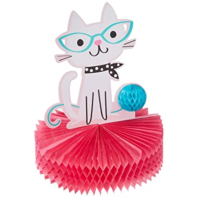 "Creative Converting 329406 Purr-FECT Centerpiece Party Supplies, 12"" x 9"", Multicolor: Toys & Games"