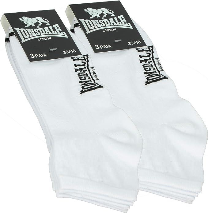 Lonsdale Quarter 6 pares de calcetines de mujer por encima del ...