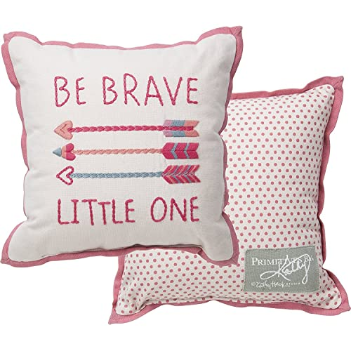 Primitives by Kathy Pink Be Brave Pillow