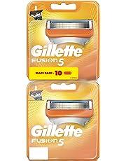 Gillette Fusion5 Lames de rasoir pour Homme, 10 Recharges (5+5 lames)