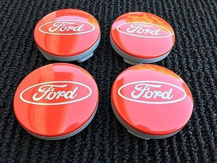 54 mm aleaci/ón 4 centros de rueda rojos de Ford