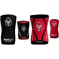 Beast Gear - Beast Sleeves - Premium 5 mm neopreen compressie kniebandages voor meer ondersteuning en bescherming van de…