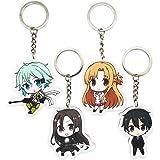 Sword Art Online Asada Shinoacrylic Keychain Key Ring Two faces Bag Keyring