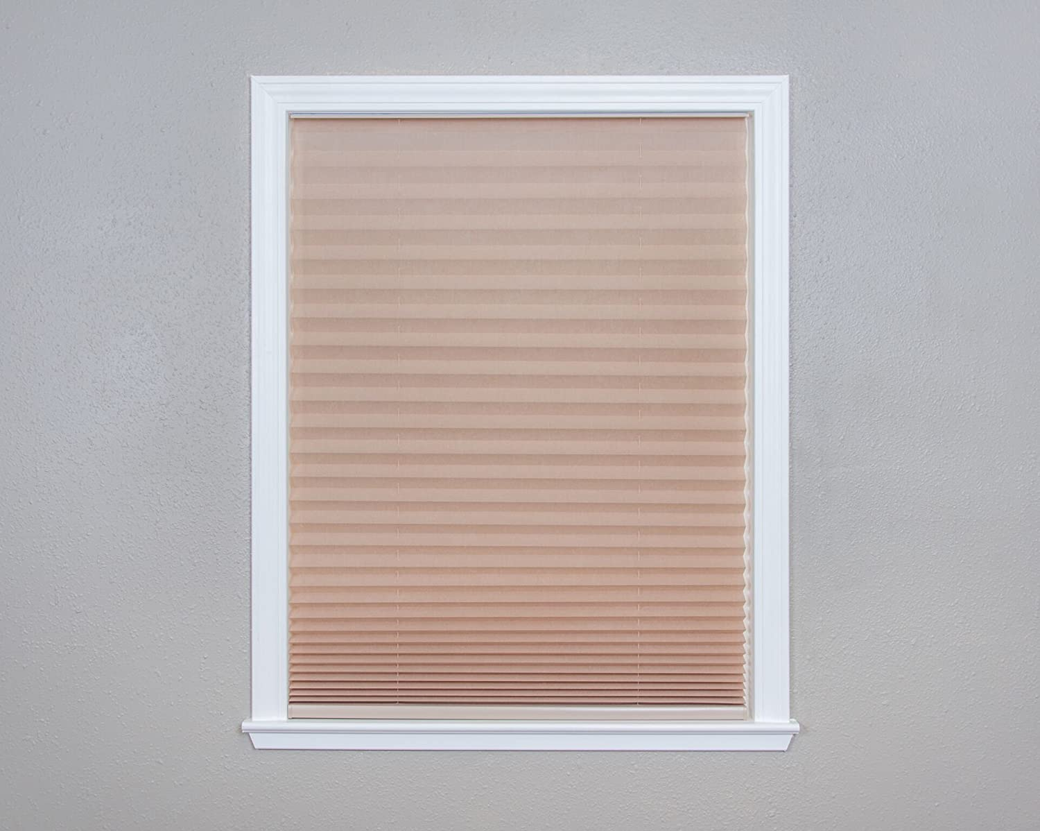 Easy Lift, 36-inch by 64-inch, Trim-at-Home (fits windows 21-inches to 36-inches wide) Cordless Pleated Shade, Light Filtering, Natural Shades Unlimited Inc. dba Redi Shade 750227506563