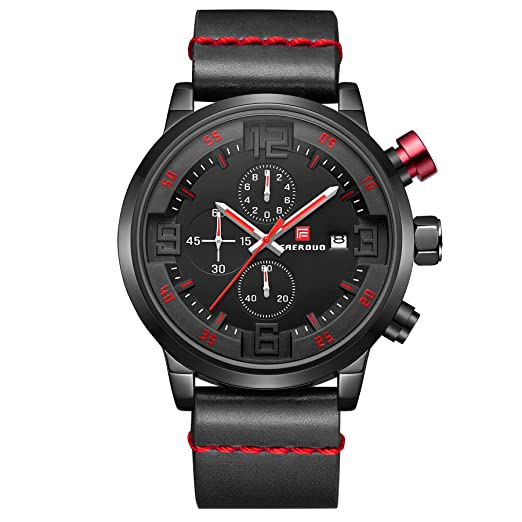 2dacdbd00714 Reloj de los Hombres Reloj de los Hombres de Lujo Hombres Reloj Deportivo  Ocasional Cron¨